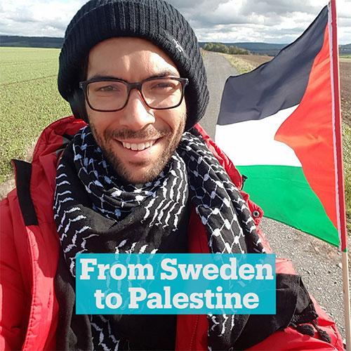 El activista sueco Benjamin Ladraa